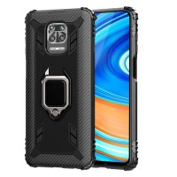 XIAOMI REDMI NOTE 9 / NOTE 9 PRO SOFT CASE CARBON MAGNETIC RING HOLDER