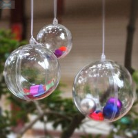Christmas Ball Door Decoration Ornament Fillable Baubles Candy Favor
