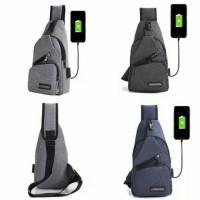 PROMO TERMURAH COD Tas sling bag MEIJULIO USB IMPORT BERKUALITAS MURAH
