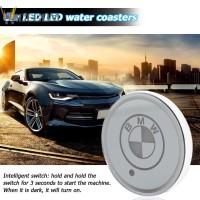 Holder Gelas dengan Lampu LED 7 Warna Anti Slip untuk Mobil