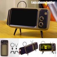 Mini Speaker Retro TV Mobile Phone Screen Stand Wireless Portable