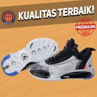 Sepatu Basket Sneakers Nike Air Jordan 34 Low Sample Grey Black