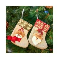 Ofe-id Kaos Kaki Gantung Motif Santa Claus untuk Dekorasi Natal