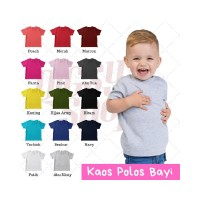 BISA Kaos Oblong Tshirt Polos Bayi Murah 6-24 Bulan Cotton Combed 30s