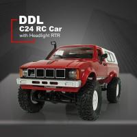 C-24 Mainan RC Mobil Off Road 4WD Skala 1: 16 dengan Lampu Kepala