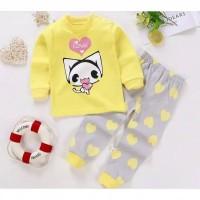 Piyama anak / setelan / baju / pakaian tidur / import / motif kartun - 3-4th