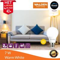 Lampu Bohlam LED Walden 7 Watt Cahaya Kuning/Warm White (HARGA GROSIR)