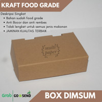 Paper Lunch Box / Kraft Food Grade / Box Dimsum Polos S-(15 x 10 x 4)