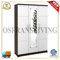 Termurah Lemari Pakaian 3 Pintu + Cermin ALBA 3M LT