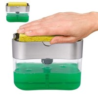 Dispenser Tempat Wadah Sabun Cuci Piring Cair Spon Sponge Holder 2in1