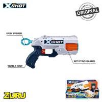 Zuru X-Shot Excel Reflex Revolver TK 6 Blaster - Foam Darts - Cans