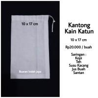 Kantong Kain Katun Saringan Kopi, Teh, Susu Kacang , dll ( 10 x 17 )