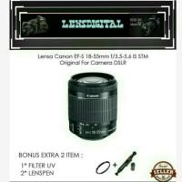 Lensa Canon Ef-S 18-55mm f/3.5-5.6 IS STM Original For Camera DSLR
