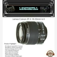 Lensa Canon Ef-s 18-55mm is ll