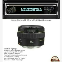 Lensa Canon EF-50mm F1.4 USM Ultrasonic