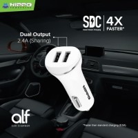 Hippo Car Charger Mobil ALF Dual USB 2.4A Simple Pack - White Original