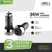 Hippo Lance 2 Car Charger Mobil 36W Quick Charge Power Delivery 18w