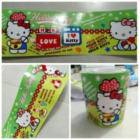Border Wall Sticker hello kitty hijau