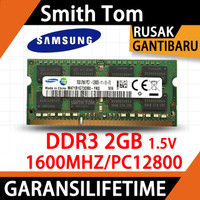 Ram laptop SAMSUNG SODIMM DDR3 2GB 1600MHZ/12800&1333MHZ/10600 - 2GB 1600MHZ