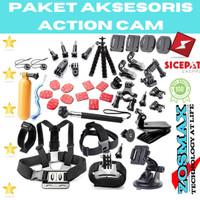 Aksesoris Action Camera Lengkap Kamera Yi Cam / Go Pro Full Set