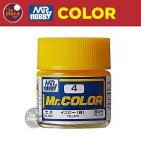 MR Color C4 - Yellow - MR Hobby Gundam Model Kit Airbrush Paint Cat