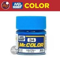 MR Color C34 - Sky Blue - MR Hobby Gundam Model Kit Airbrush Paint