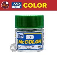 MR Color C6 - Green - MR Hobby Gundam Model Kit Airbrush Paint Cat