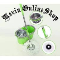 Alat pel praktis-Alat pel kebutuhan rumah tangga-Promo spin mop pel