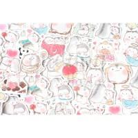 Stiker Apple Hamster Lucu DIY Scrapbook GH 303352