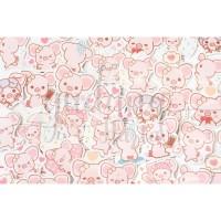 Stiker Babi Cantik Pig Lucu DIY Scrapbook GH 303369