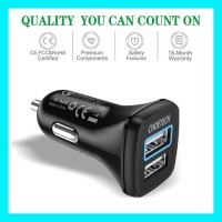 Fast Car Charger CHOETECH C0051 Dual Port QC 3.0 Car Fast Charger QC
