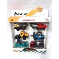 Mainan Truk Traktor Set Isi 6 pcs / Truk Konstruksi - Alloy Model