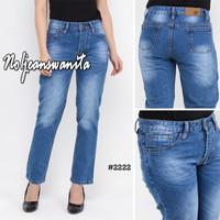 (FREE ONGKIR-LBH HEMAT) - Celana Panjang Jeans Boyfriend Denim Wanita