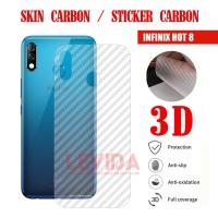 SKIN CARBON INFINIX HOT 8 SKIN BACK 3D ANTIGORES SKIN INFINIX HOT 8
