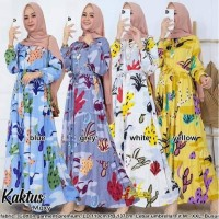 Gamis Long Dress Cactus Dres Kaktus Maxi