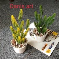 Mini Pinus palsu/ Pinus plastik/ bunga meja/ bunga plastik