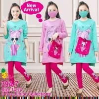 Set tunik Junior LP394-7 untuk anak perempuan setara 8-14 tahun