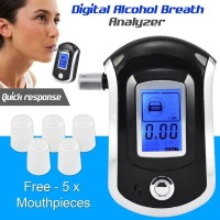 Alcohol Tester Breath Analyzer Ukur Kadar Alkohol Tester Meter AT6000