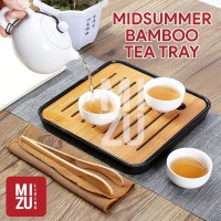 MIDSUMMER BAMBOO Chinese Tea Tray + DrainPan Nampan Teh Bambu Anti-Air