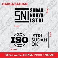 Sticker Aksesoris Sepeda SNI Sudah Nanya Istri ISO Istri Sudah OK