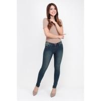 Celana Panjang Jeans/Denim Wanita JSK 9132 Skinny Hijau Polos 39-42