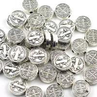 manik rosario Benediktus bulat silver