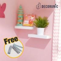 [Decorunic] Floating Shelf - Rak Dinding Minimalis ukuran 30-30cm