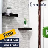 [Decorunic] Floating Shelf - Rak Dinding Minimalis ukuran 20,20 cm