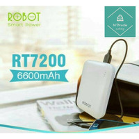 Powerbank Robot RT7200 6600mAh 2 USB & LED Power Bank Vivan Original