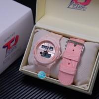 Jam Tangan Wanita Digitec 2 Tali Dual Time DG 3095 Original Anti Air C