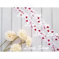 Pita Satin Putih Love Heart Valentine Pernikahan Hantaran Hamper 1 in