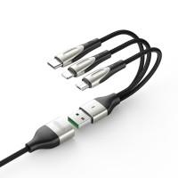 JOYROOM S-M411 Sharp Series 3in1 8 Pin - Micro USB - Type-C Charging 3