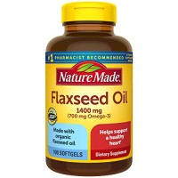 Nature Made Flaxseed Oil 1400 mg Softgels, 100 Count for Heart Health?
