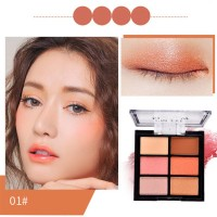 Palet Eyeshadow Profesional 6 Warna Peach Blossom Pearl Matte